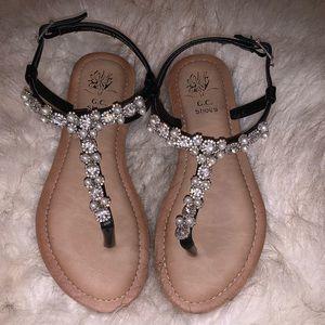 Sandals with rhinestones!✨